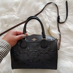 Coach Patent Embossed Mini Tote